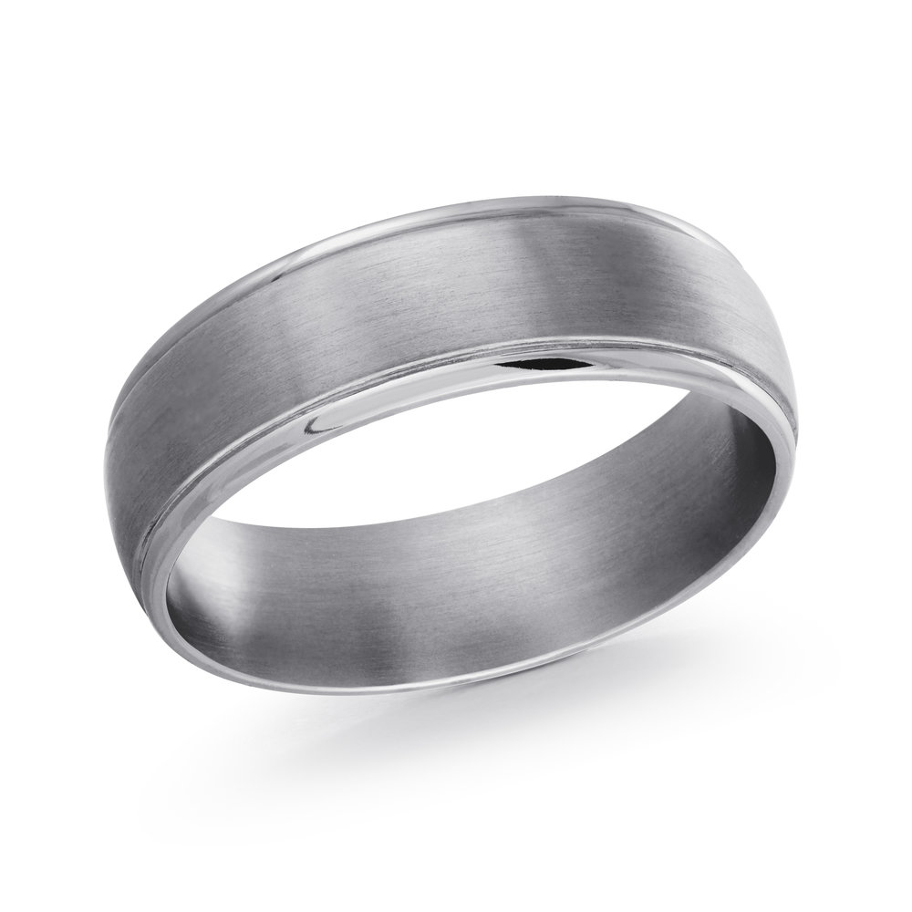 GREY Gold Men's Ring Size 6mm (TANT-007-6)