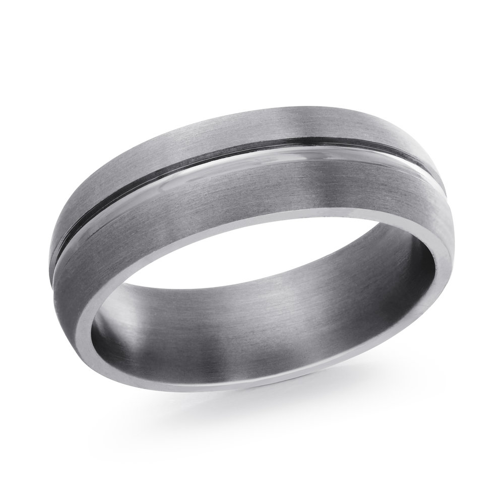 GREY Gold Men's Ring Size 7mm (TANT-009-7)