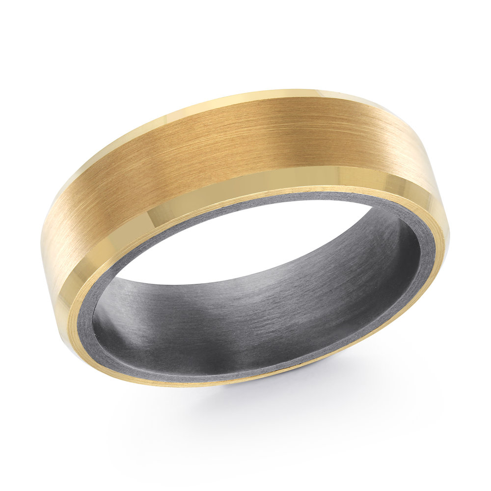 Yellow Gold Men's Ring Size 7mm (TANT-020-7Y)