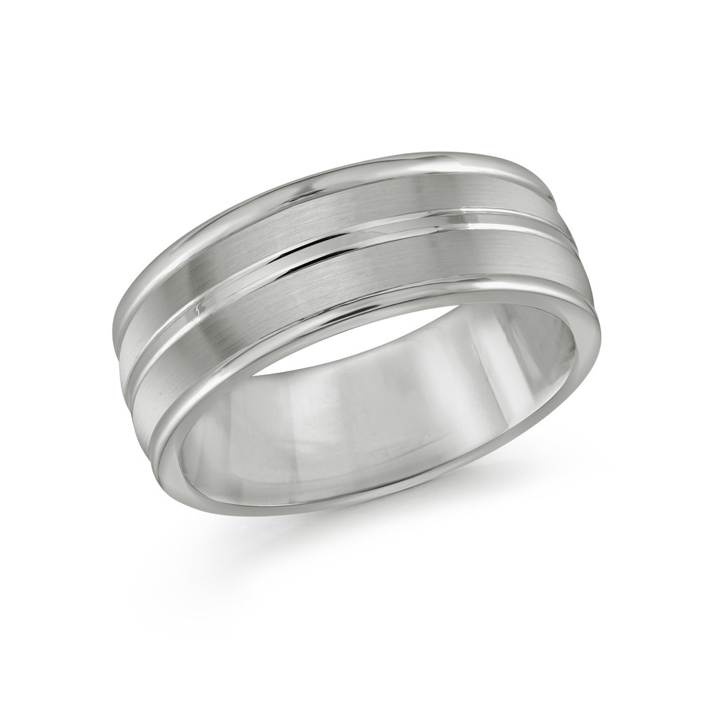 White Gold Men's Ring Size 8mm (TG-004)