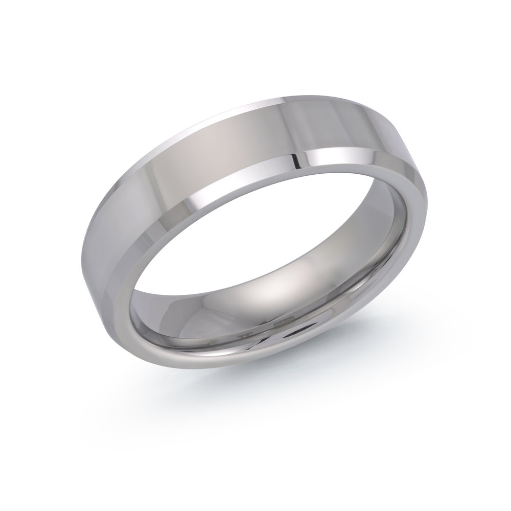 White Gold Men's Ring Size 6mm (TG-030)