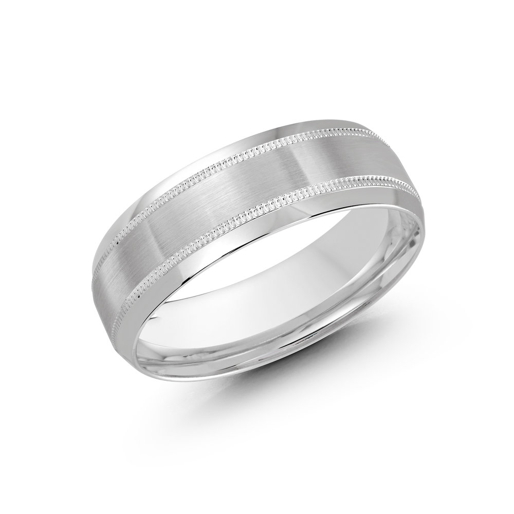 White Gold Men's Ring Size 7mm (CB-295-7W)