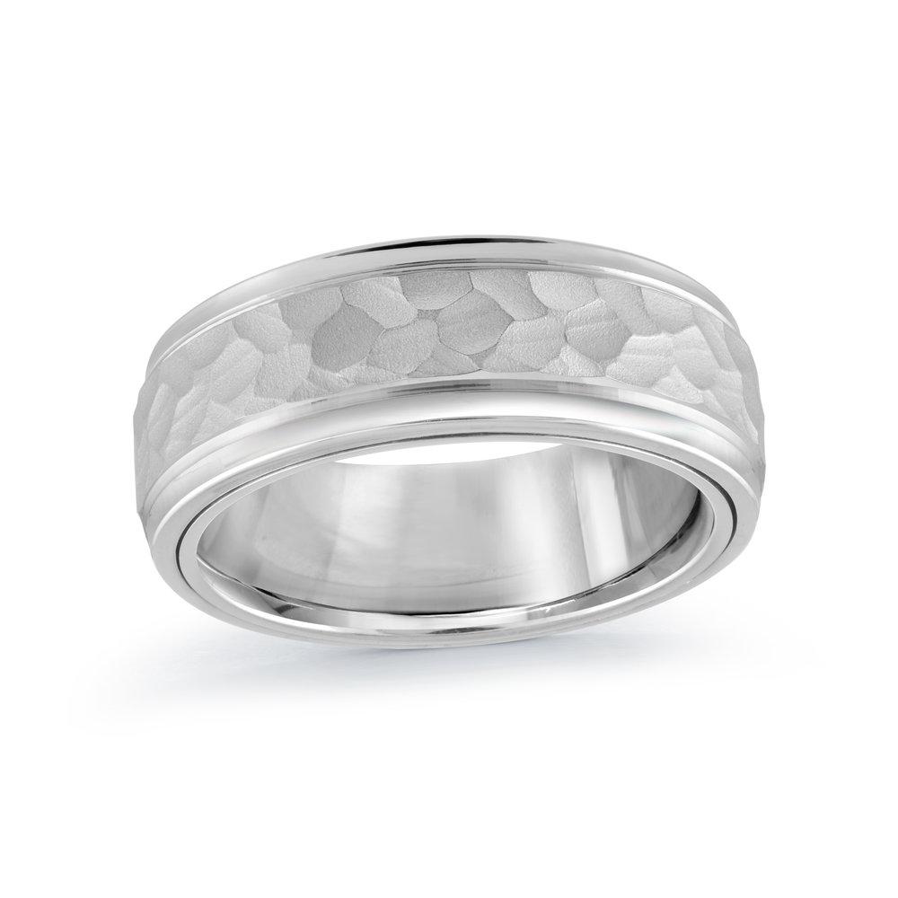 White Gold Men's Ring Size 8mm (MRD-053-8W)