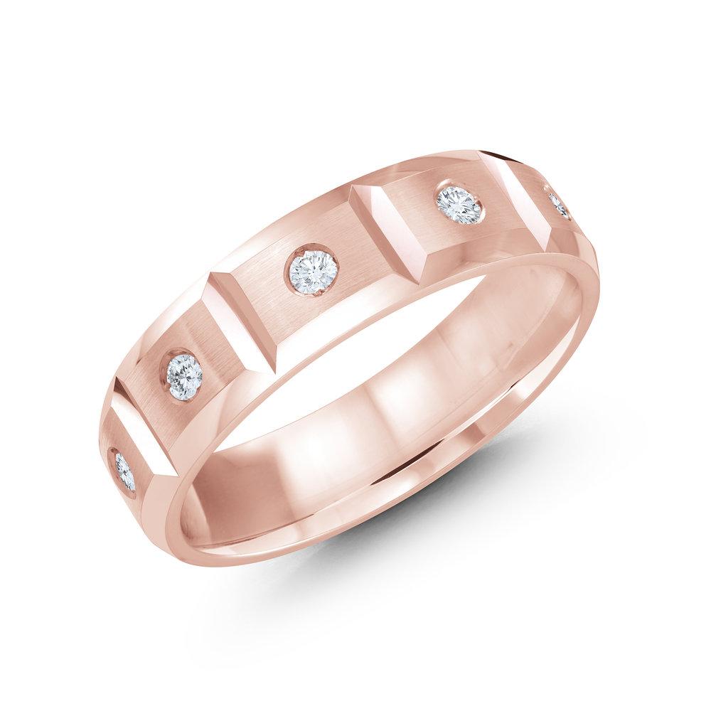 Pink Gold Men's Ring Size 6mm (JMD-388-6P30)