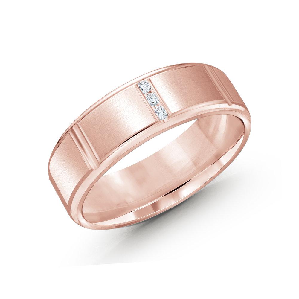 Pink Gold Men's Ring Size 7mm (JMD-1088-7P10)