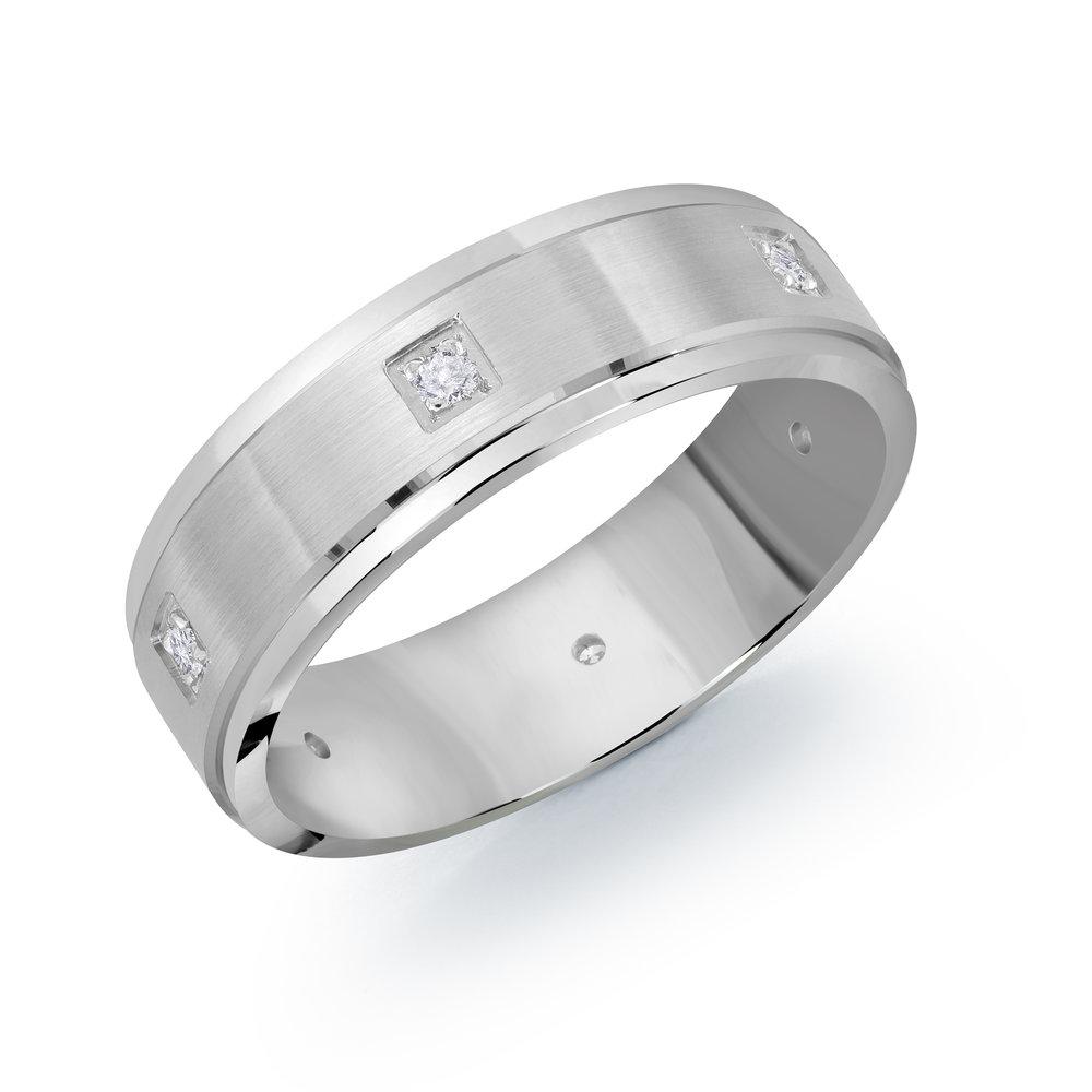 White Gold Men's Ring Size 7mm (JMD-1094-7W9)