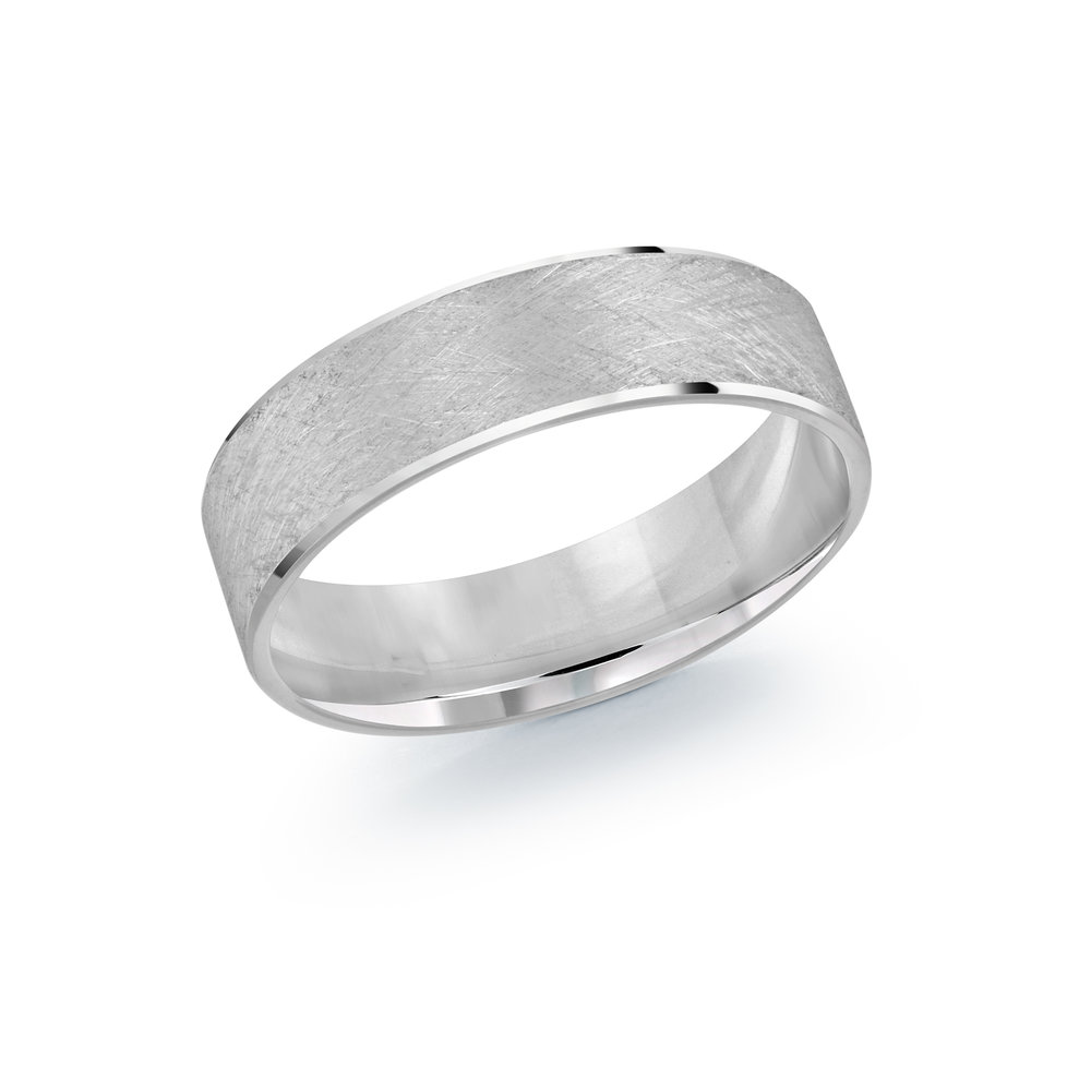 White Gold Men's Ring Size 6mm (LUX-974-6W)