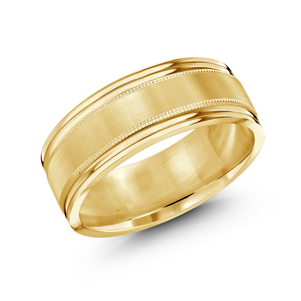 Yellow Gold Men's Ring Size 8mm (LUX-738-8Y)