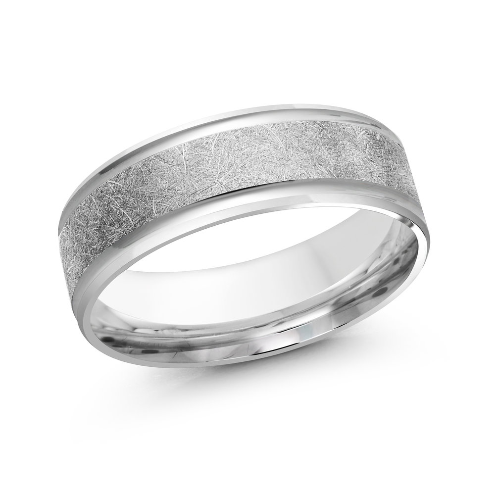 White Gold Men's Ring Size 7mm (LUX-160-7W)