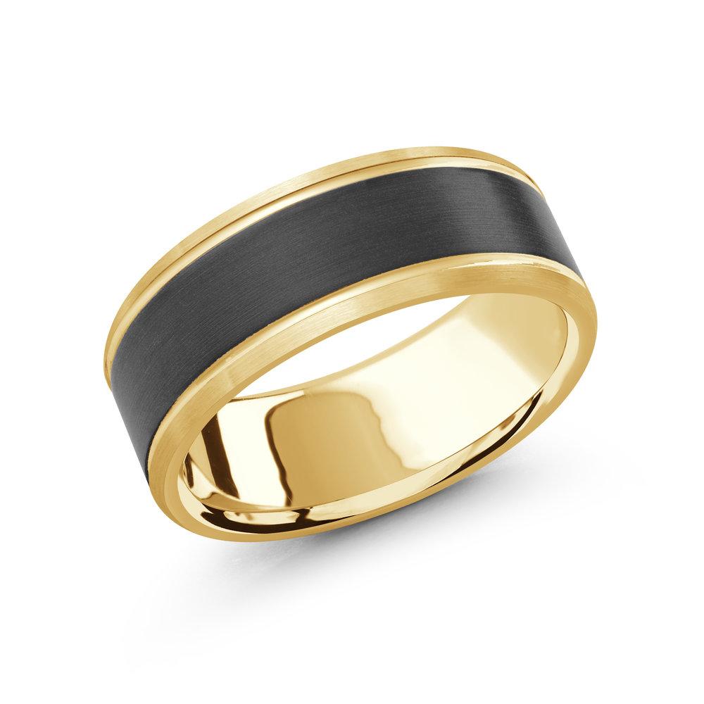 Yellow Gold Men's Ring Size 8mm (MRDA-072-8Y)