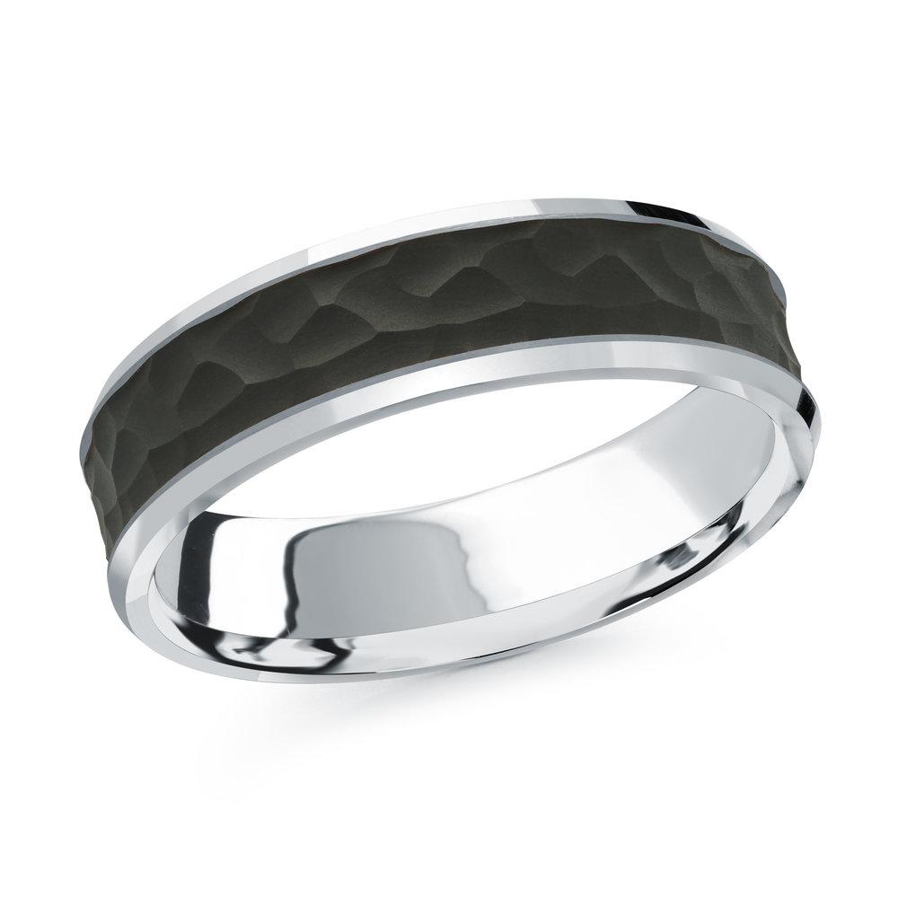 White Gold Men's Ring Size 6mm (MRDA-075-6W)