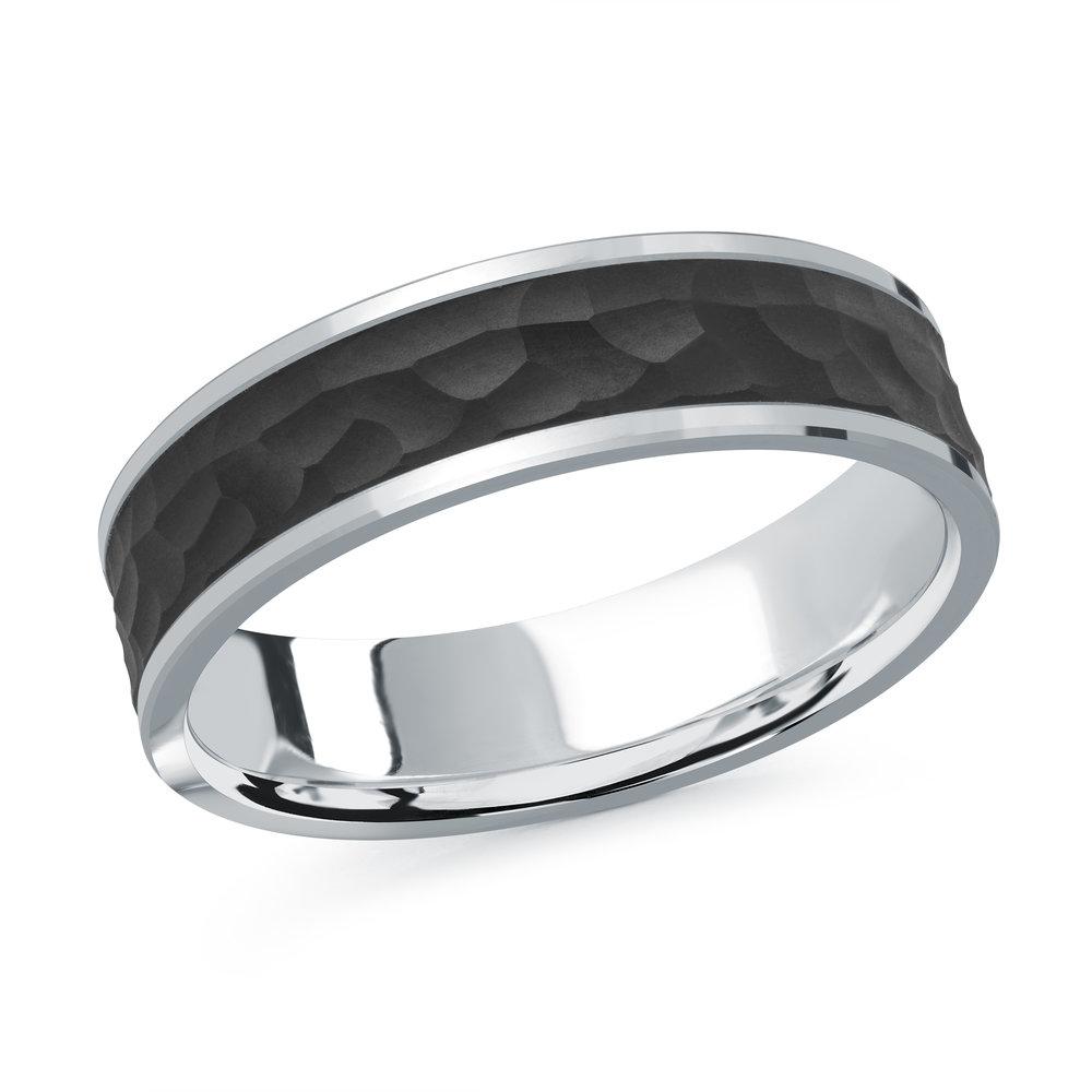 White Gold Men's Ring Size 6mm (MRDA-080-6W)